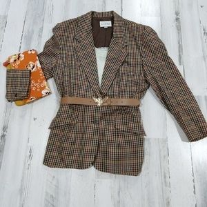 Vintage 70s Union Label Oversized Plaid Blazer